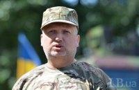 Турчинов выехал на передовую из-за обострения ситуации в зоне АТО