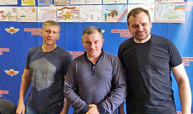 Отець Іван Гуня (справа) і колишні афганці