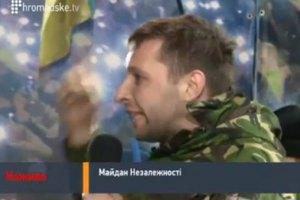 Сотник со сцены Майдана: Янукович должен уйти до 10:00 завтрашнего дня (добавлено ВИДЕО)