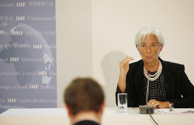 На фото директор-распорядитель МВФ Кристин Лагард