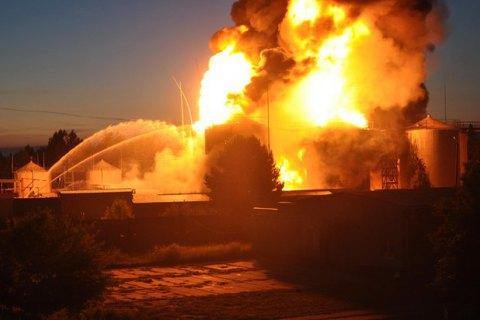 Завершено расследование дела о пожаре на нефтебазе под Киевом