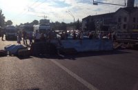 У Києві на Святошино знесли МАФи разом з товаром