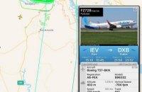 Самолет flydubai более двух часов кружил над Киевом после взлета