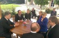 В Париже завершилась встреча Порошенко, Путина, Олланда и Меркель