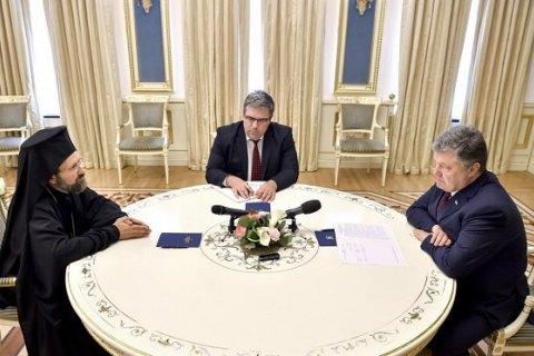 Порошенко обсудил вопрос поместной церкви с представителем вселенского патриарха