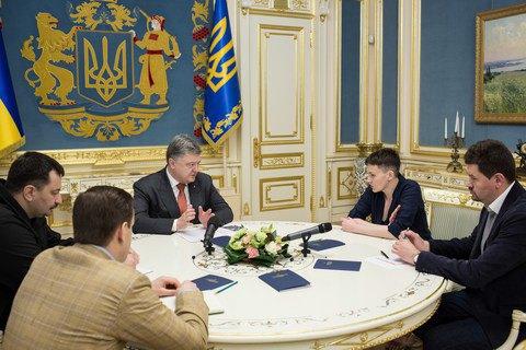Порошенко скоординировал сСавченко общие действия поускорению освобождения пленных