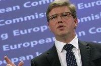 Фюле вдохновлен решимостью Януковича принять евроинтеграционные законы