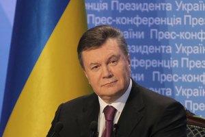 Янукович поблагодарил работников санстанций за самоотверженный труд