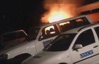 В Ивано-Франковске подожгли автомобиль ОБСЕ