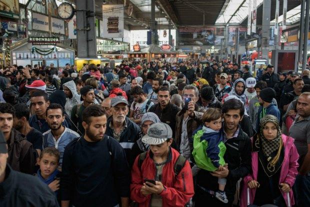 Беженцы в Мюнхене, Германия