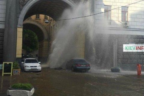 В Киеве второй раз за день случился прорыв тепломагистрали