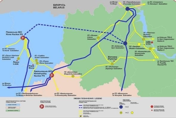Схема маршрута будущей ЛЭП.