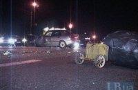 В Киеве пешеход-нарушитель спровоцировал жесткую аварию