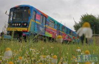 В киевском метро курсирует разрисованный испанским художником поезд