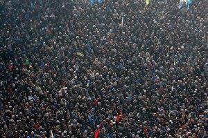 На Майдане Независимости собрались 50 тысяч человек