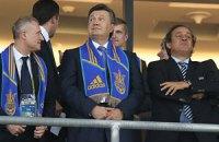Янукович посетит матч Украина-Франция