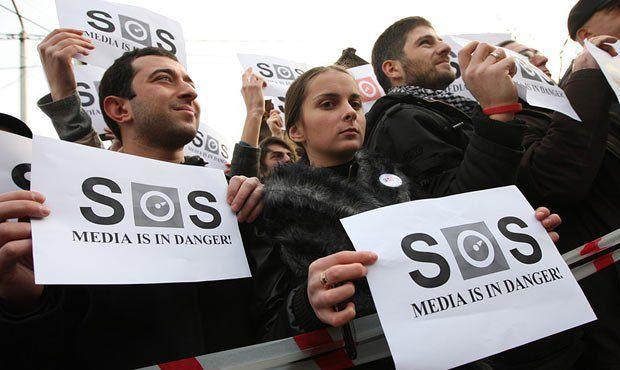Грузинские СМИ также не всегда довольны властью