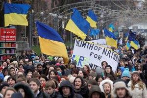 Тимошенко призвала Евромайданы в Киеве объединиться без партийных флагов