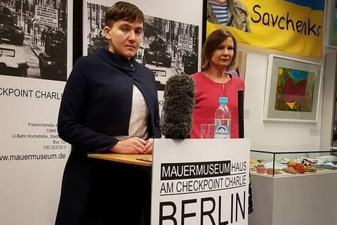 Савченко вГермании назвала Захарченко иПлотницкого измученными войной людьми— корреспондент