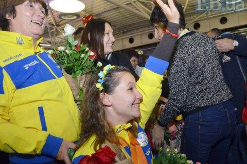 В Борисполе встретили прибывших из Рио украинских паралимпийцев