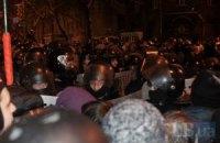 В Черкассах милиция снесла палатку Штаба национального сопротивления