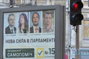 """Более четверти киевлян проголосовали за """"Самопомощь"""""""