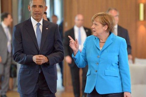 Обама и Меркель призвали к скорейшему выполнению Минских договоренностей