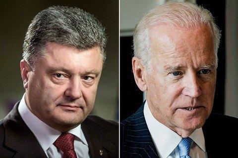 Порошенко и Байден согласились с безальтернативностью санкций против РФ