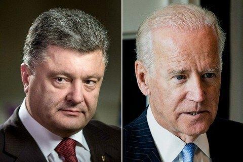 Порошенко обсудил с Байденом содействие США в вопросе имплементации Минских соглашений