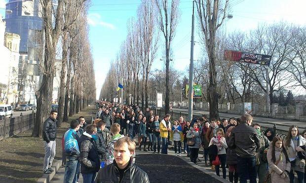 Студенты заблокировали Министерство Образования