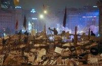 На Майдане Независимости находятся около двух тысяч активистов
