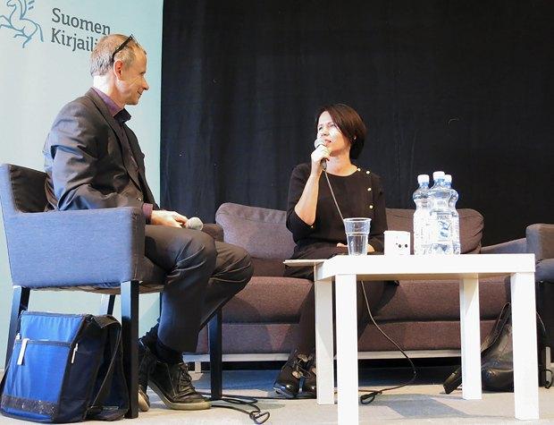 Вайнонен на книжковому форумі у м.Турку, Фінляндія