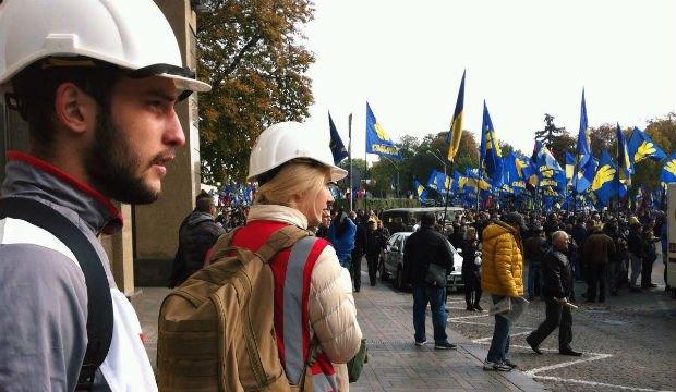 Киевский отряд быстрого реагирования на дежурстве