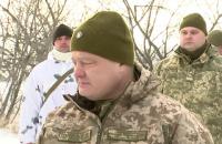 Порошенко съездил на опорный пункт в километре от Горловки