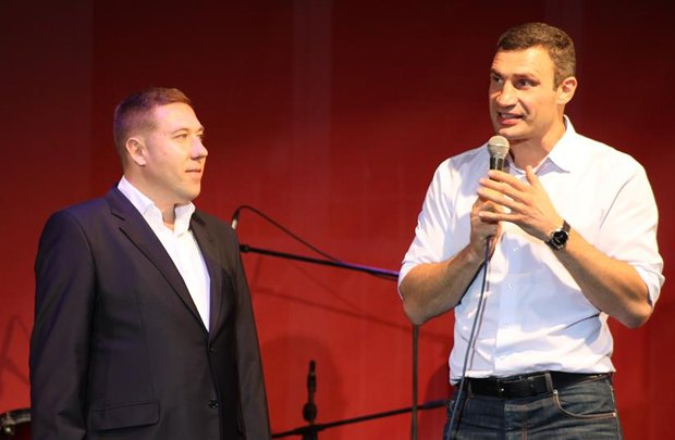 Руслан Сольвар и Виталий Кличко