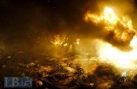 Дом Профсоюзов снова горит, на Хрещатике погас свет