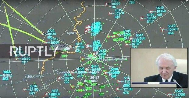 Маршрут MH17 - средняя зеленая линия, 26.09.2016
