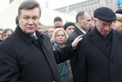 Янукович и Азаров на Майдане встречаются с предпринимателями