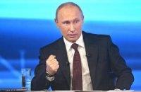 Путин о Порошенко:  у него пока руки не испачканы кровью