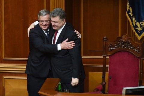 Коморовский ратифицировал упрощение малого приграничного движения с Украиной
