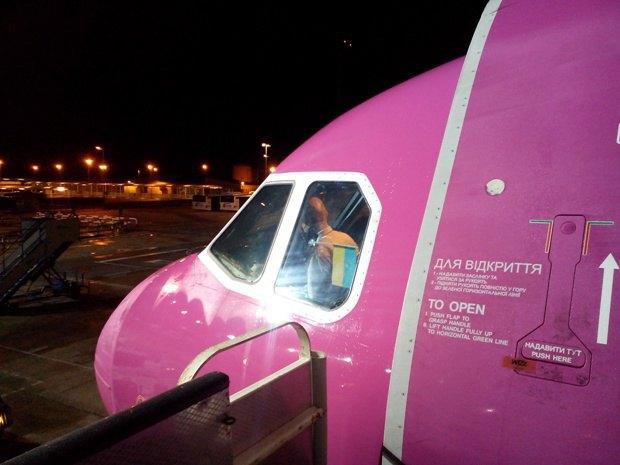 Самолет из Барселоны в Киев в субботу был заполнен пассажирами