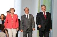 В Берлине прошла встреча Меркель, Олланда и Порошенко