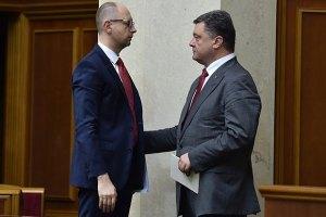 Порошенко получил список министров от Яценюка за неделю до его обнародования