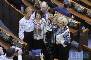 Левочкин пообещал женщинам-депутатам встречу с Януковичем