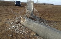 Опору вышедшей из строя ЛЭП в Крым взорвали