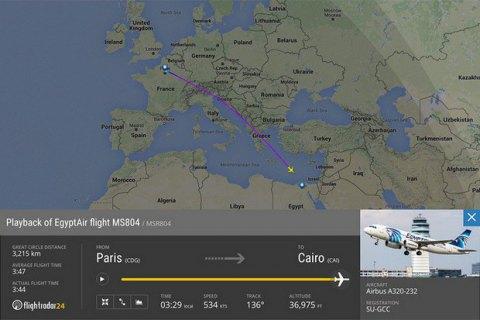 Cамолет EgyptAir пропал над Средиземным морем
