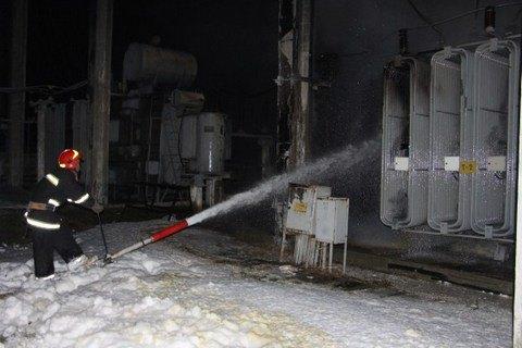 ВКиеве произошел пожар натрансформаторной подстанции