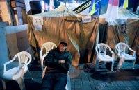 Бритоголовые сторонники Партии регионов избили бютовцев на Крещатике