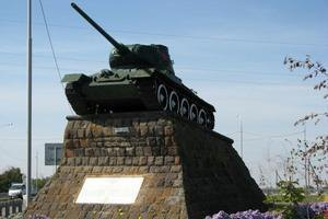 В Константиновском районе похитили танк с постамента
