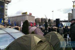На Майдане не осталось места для новых палаток